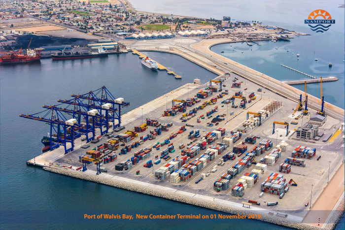 The port of Walvis Bay new container and cruise terminals, featured in Africa PORTS & SHIPS maritime news