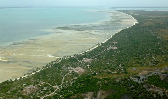 Part of the Afungi coastline near where the Total gas project is under construction, featured in Africa PORTS & SHIPS maritime news