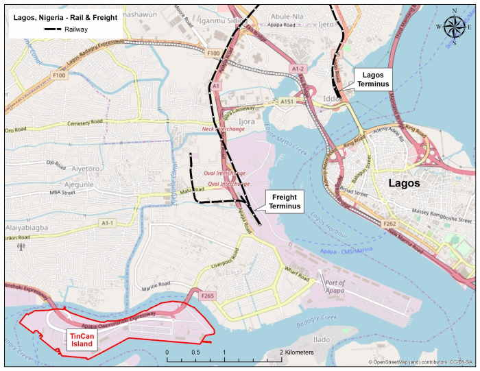 map of Lagos ports, featured in Africca PORTS & SHIPS maritime news