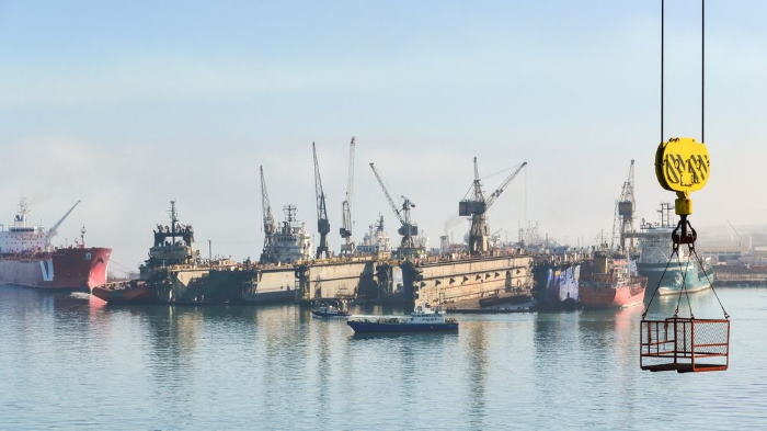 Ship repair at the port of Walvis Bay, featured in Africa PORTS & SHIPS maritime news