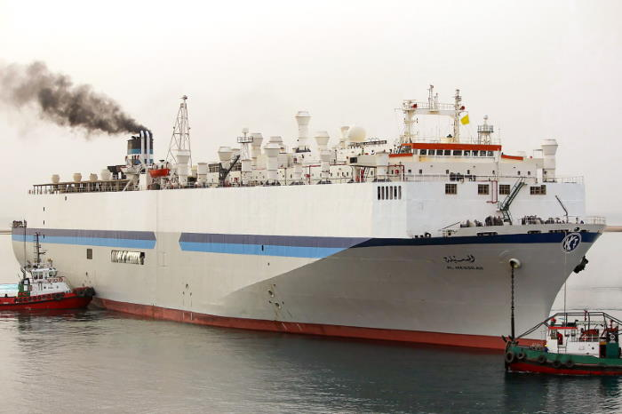 The Kuwaiti livestock carrier Al Messilah. Picture courtesy: Shipspotting, featured in Africa PORTS & SHIPS maritime news