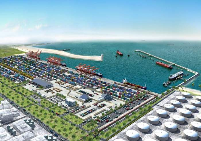 Depiction of the completed new port of Lekki, Nigeria, featured in Africa PORTS & SHIPS maritime news