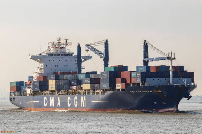 CMA CGM Africa Four by Marco Schoone / Shipspotting, featured in Afrixca PORTS & SHIPS maritime news