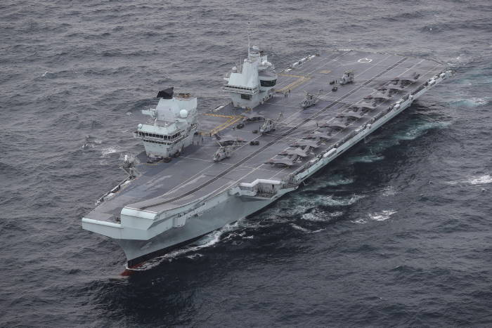 The full UK Carrier Strike Group assembled for the first time during Group Exercise 2020 on 4th October. Aircraft carrier HMS Queen Elizabeth leads a flotilla of destroyers and frigates from the UK, US and the Netherlands, together with two Royal Fleet Auxiliaries. It is the most powerful task force assembled by any European Navy in almost 20 years. All illustrations MoD Crown Copyright 2020 ©, featured in Africa PORTS & SHIPS maritime news