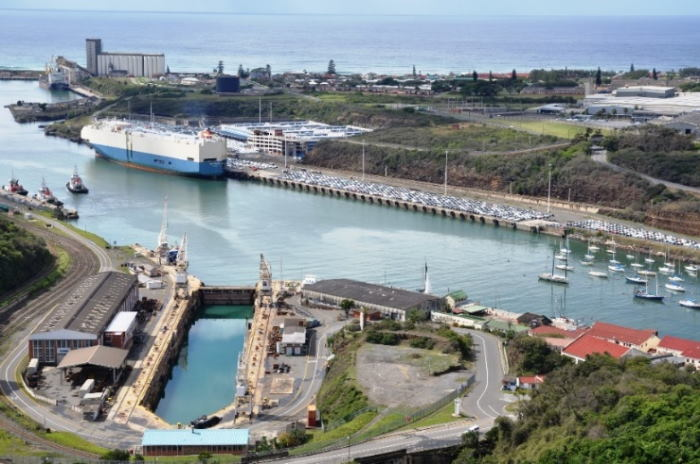The Princess Elizabeth Drydock in the Port of East London, on the bottom left of image. All pictures courtesy: TNPA East London, featured in Africa PORTS & SHIPS maritime news