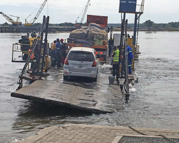 What the new bridge is replacing, the old ferry in service until the opening of the new bridge, featured in Africa PORTS & SHIPS maritime news