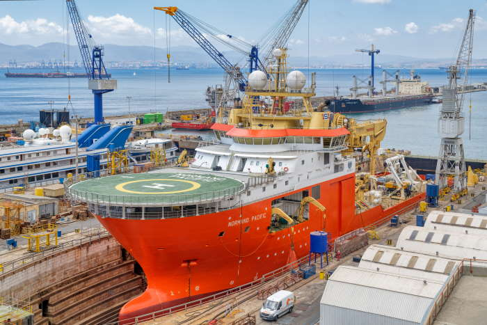 Normand Pacific in No.2 dock for scheduled general maintenance in July, featured in Africa PORTS & SHIPS maritime news