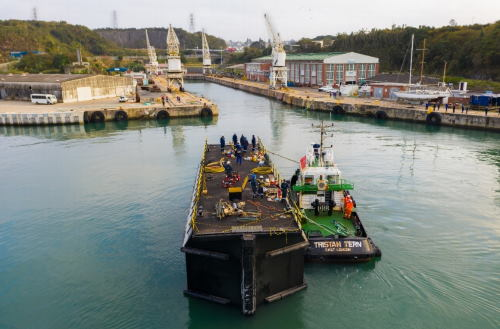 The caisson gate being repositioned, featured in Africa PORTS & SHIPS maritime news
