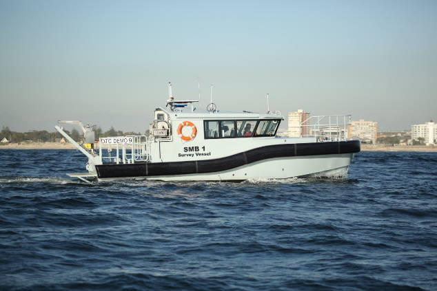 The first SMB undergoing sea trials, featured in Africa PORTS & SHIPS maritime news