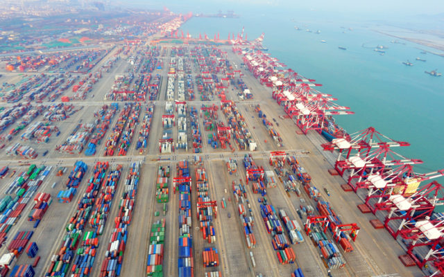 China's Qingdao port container terminal, featured in Africa PORTS & SHIPS maritime news