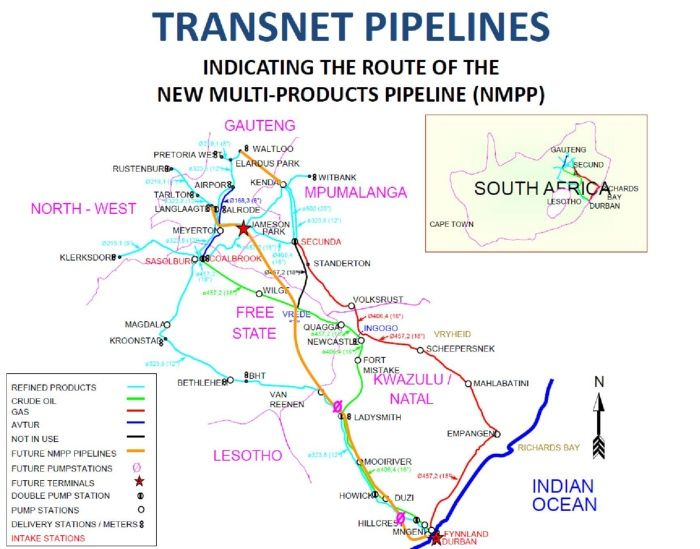 Transnet Pipeline System, featured in Africa PORTS & SHIPS maritime news