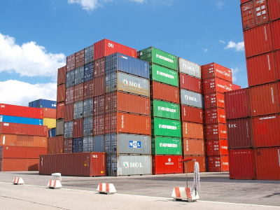 containers, featured in article in Africa PORTS & SHIPS maritime news