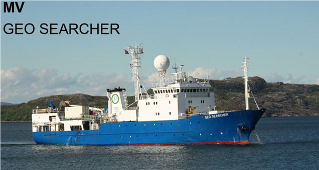 Geo Searcher. Picture by Tristan Administrator Sam Burns, featured in Africa PORTS & SHIPS maritime news