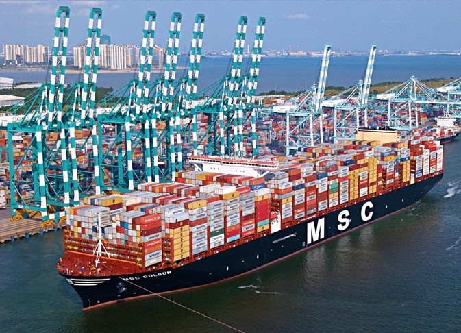 MSC Gülsün, first of her class of 23,000-TEU container ships, featured in Africa PORTS & SHIPS maritime news