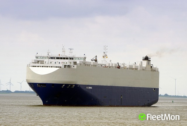 EUKOR's 21,000-gt car carrier RCC COMPASS (IMO 9441611) formerly named Morning Compass, which has called at the port of Walvis Bay. Picture: Fleetmon, featured in Africa PORTS & SHIPS maritime news