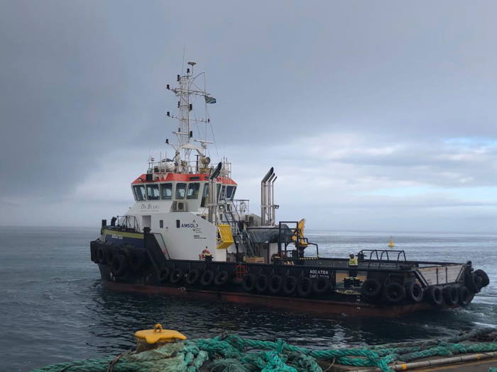 AMSOL supply vessel and tug Aogatoa, featured in Africa PORTS & SHIPS maritime news