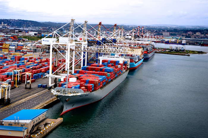 Container Terminal Pier 2 scene, featured in Africa PORTS & SHIPS maritime news