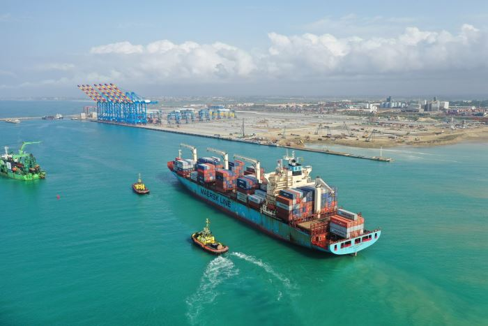Tema's second container terminal, operated by Meridian, which has dramatically increased the port's container capacity. Picture: MPS, featured in Africa PORTS & SHIPS maritime news