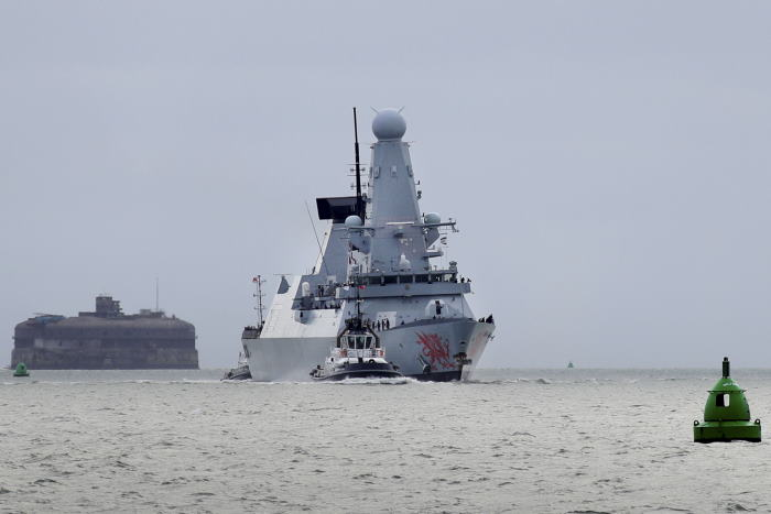 HMS Dragon arrives Portsmouth after her deployment to the Black Sea. Picture: MoD Crown Copyright 2020 ©, featured in Africa PORTS & SHIPS maritime news