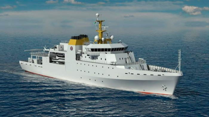 The Project Hotel hydrographic survey ship based on a Vard design featured in Africa PORTS & SHIPS maritime news