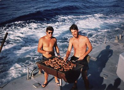 The occasional South African braai at sea was also a necessity, as featured in Africa PORTS & SHIPS maritime news