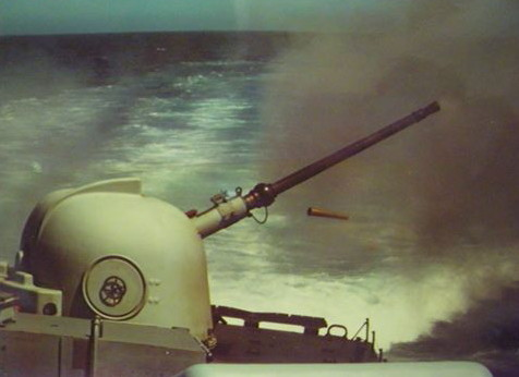 The strike craft also carried two OTO Melara 76 mm guns (later reduced to one after conversion), featured in Africa PORTS & SHIPS maritime news
