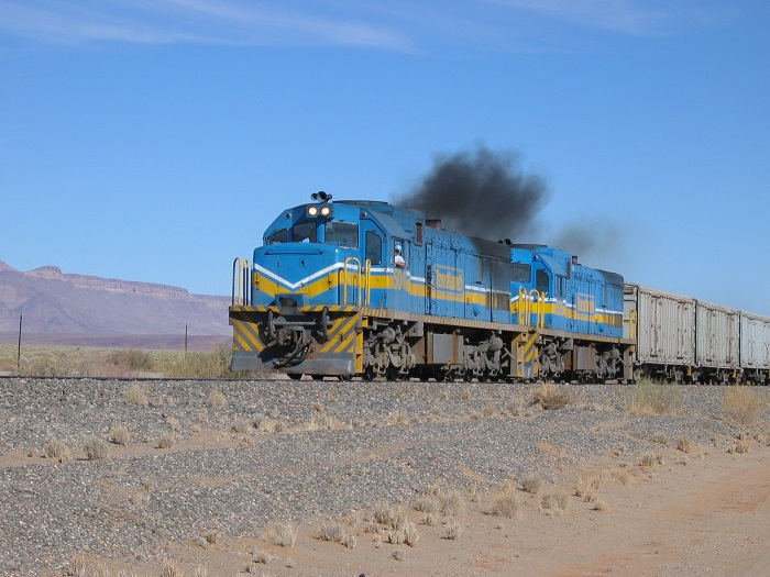 Former South African class 33 locos on freight train in Namibia. Picture: Wikipedia, featured in Africa PORTS & SHIPS maritime news