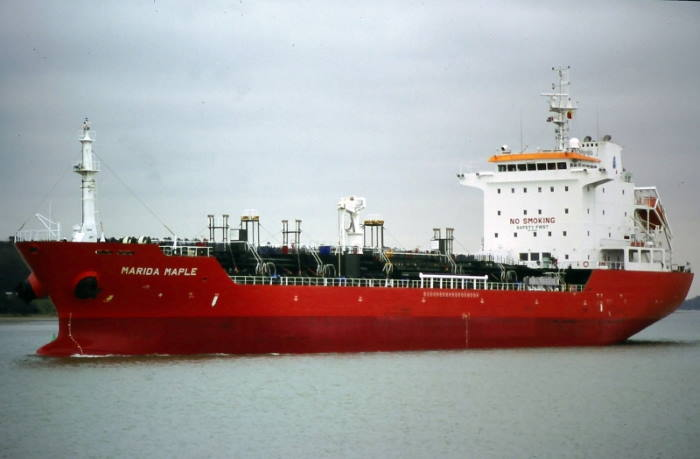 The chemical tanker Valley Oak (formerly Marida Maple). Picture courtesy Shipspotting, featured in Africa PORTS & SHIPS maritime news