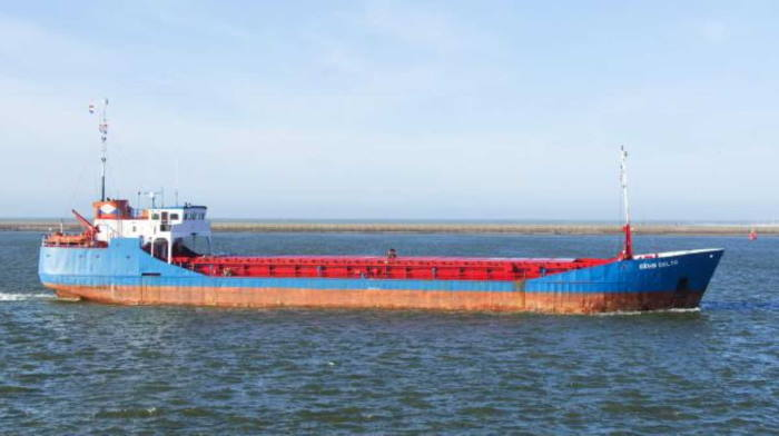 The Ghanaian-flagged general cargo ship AM Delta, featured in Africa PORTS & SHIPS maritime news