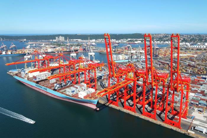 Durban Container Terminal, Featuring in Africa PORTS & SHIPS maritime news