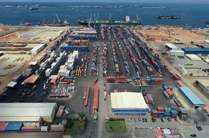 Another view of the container terminal, featured in Africa PORTS & SHIPS maritime news