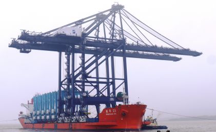 Remote cranes at the port of Felixstowe, fEatured in Africa PORTS & SHIPS maritime news