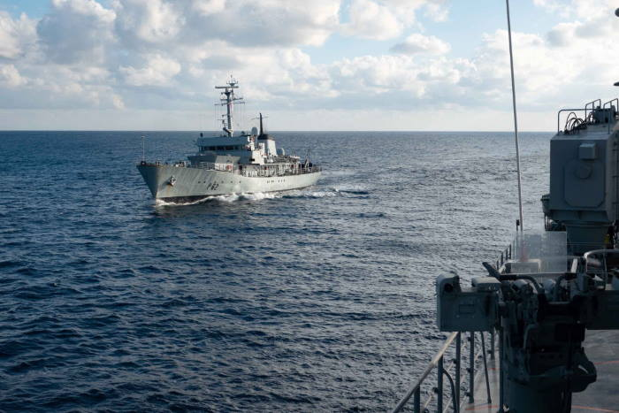 Maltese Navy and SNMCMG2 interaction in the Mediterranean Sea on 1 December 2020. Picture: Hellenic Navy / NATO © featuring in Africa PORTS & SHIPS maritime news