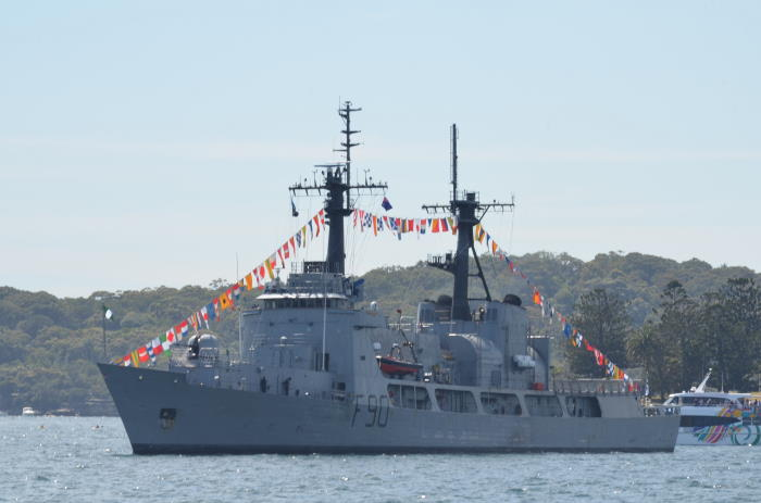 NNS Thunder, a former US Coast Guard cutter, seen here when taking part in the Australian Fleet Review of 2013, featured in Africa PORTS & SHIPS maritime news