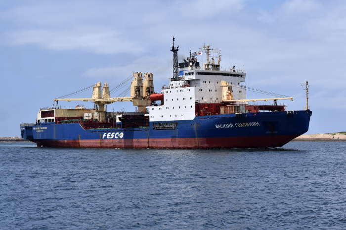 Vasiliy Golovnin. Picture by Trevor Jones, in Africa PORTS & SHIPS maritime news