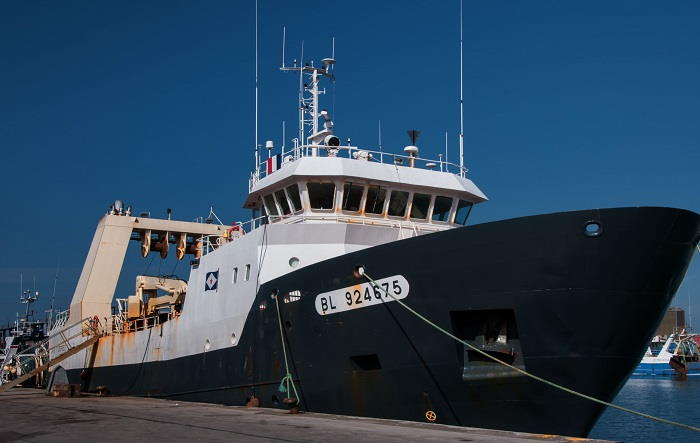 The Cameroonian fishing trawler Cap Saint Georges, seemingly a magnet for pirates. Picture: Maritime-Connector, featured in Africa PORTS & SHIPS maritime news