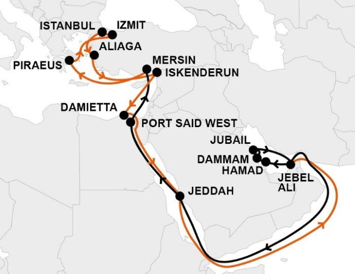 Hapag-Lloyd's GEM service port rotation, featuring in Africa PORTS & SHIPS maritime news