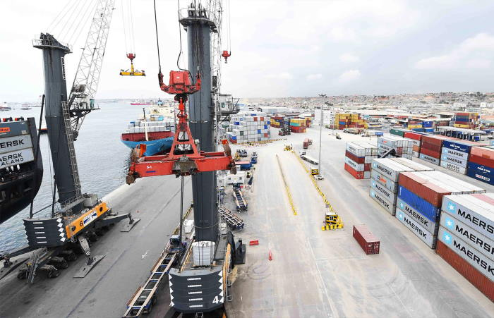 APM container terminal at Luanda, featured in Africa PORTS & SHIPS maritime news