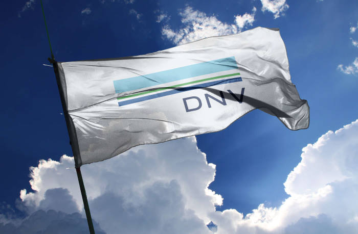DNV's new logo, minus the GL, featured in Africa PORTS & SHIPS maritime news