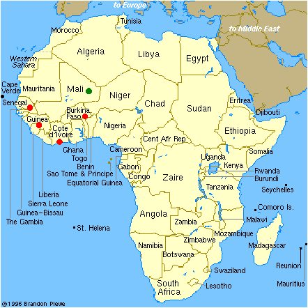 Africa map for AfCFTA article in Africa PORTS& SHIPS maritime news
