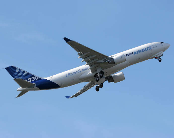 The Airbus A330-200F freighter during her Airbus trials. French shipping line CMA CGM has acquired four aircraft for a new aviation Air Cargo division as reports by Africa PORTS & SHIPS maritime news