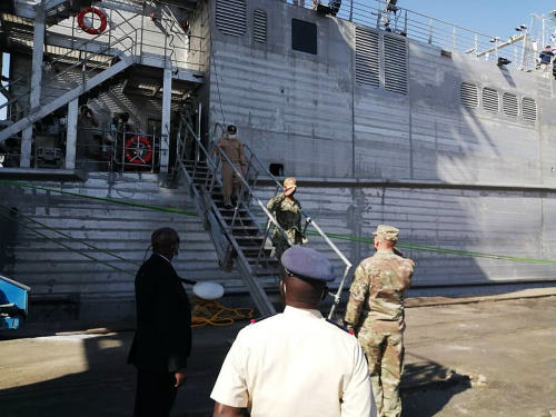 Capt Frank Okata, commodore, Military Sealift Command Europe and Africa and Commander Task Force 63, Reported in Africa PORTS & SHIPS maritime news
