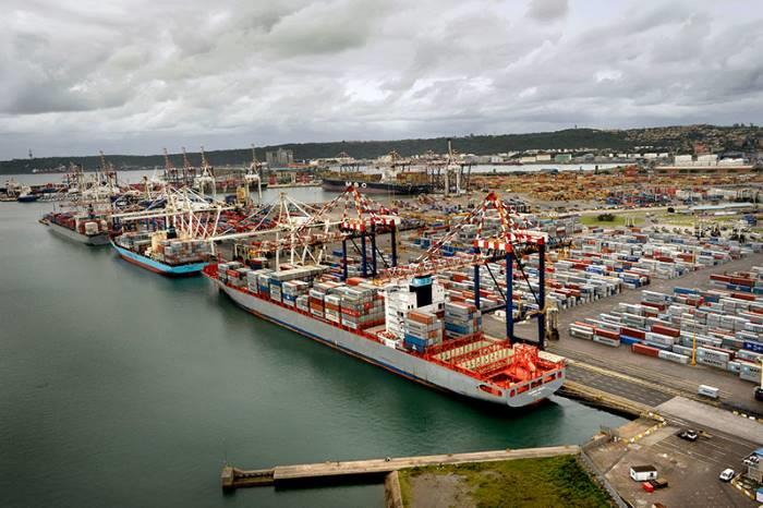 Durban Container Terminal looking east, featured in Africa PORTS & SHIPS maritime news