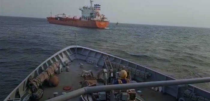 Images provided by Inter-Regional Coordination Center (ICC) Yaoundé, Cameroon. They relate to an attempted attack on 7 February 2021, when the Oil/Chemical tanker SEA PHANTOM was boarded by suspected pirates on the high seas off Sao Tome & Principe. Following coordination between the Cameroon and Equatorial Guinea Navies, response units were dispatched. As a helicopter from Equatorial Guinea arrived on scene, at least eight people that had managed to board the vessel fled the ship. The Cameroonian patrol boat DIPIKAR also arrived on scene to assist. Fortunately, the crew was found uninjured in the tanker's intact citadel. The vessel has since been escorted to the port of Malabo, in Equatorial Guinea, featured in a report in Africa PORTS & SHIPS maritime news
