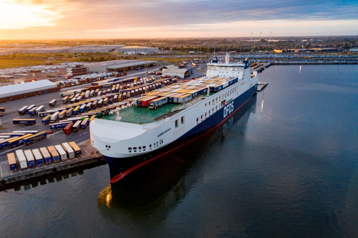 The RoRo vessel Humbia Seways at North Sea Port, featured in Africa PORTS & SHIPS maritime news