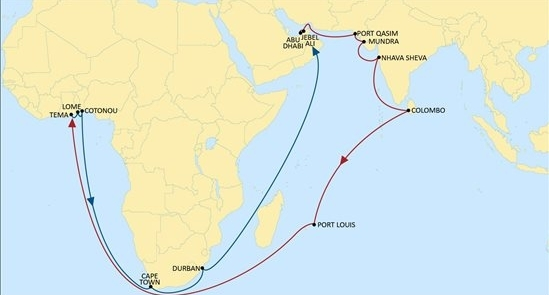 MSC IAS service rotation, reported in Africa PORTS & SHIPS maritime news