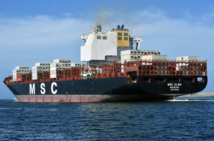 MSC Elma departing Durban, picture Trevor Jones, featured in Africa PORTS & SHIPS maritime news