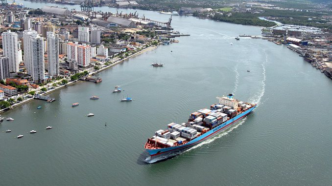 Brazil's port of Santos. Picture courtesy Port of Santos, featured in Africa PORTS & SHIPS maritime news