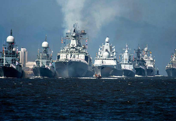 Russian fleet, appearing in Africa PORTS & SHIPS maritime news, image ModernDiplomacy / Dryad Global