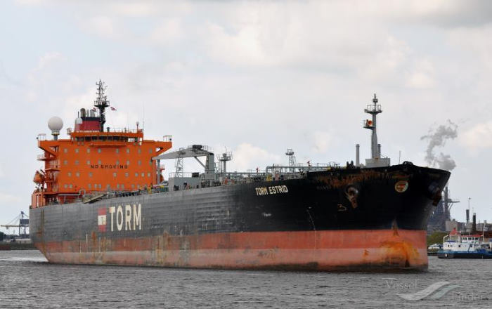 The products tanker TORM ESTRID, in port today (Sunday) at Cape Town. Picture: Vesselfinder, Featured in Africa PORTS & SHIPS maritime news